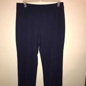 Navy blue knit pants, 18W, Woman Within